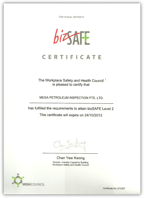 Biz Safe Certificate Level II