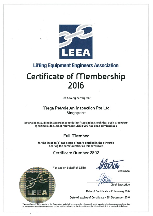 Lifting Equipment Engineers Association